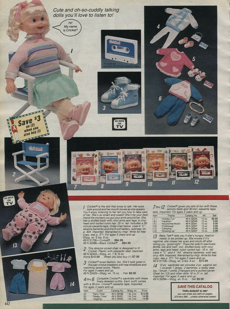 1986 Catalog Ad for Cricket the Talking Doll